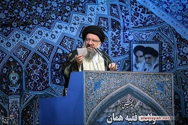 خطيب جمعة طهران:  الثورة الإسلامية كانت نعمة كبيرة من الله على العالم الإسلامي