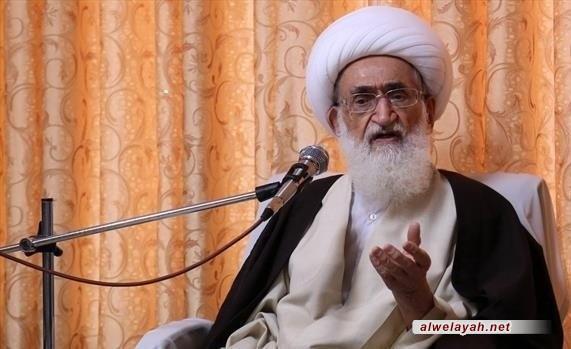 المرجع الديني نوري الهمداني: الدفاع عن المظلومين في الحقيقة احد أهداف الثورة الإسلامية السامية